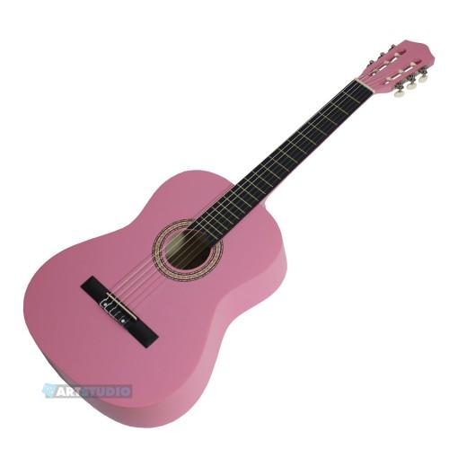 גיטרה קלאסית בצבע ורוד