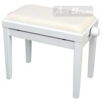 כסא פסנתר לבן